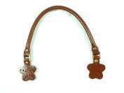 N240 35 Cm Tan Embossed Bronze Ring Purse Handles