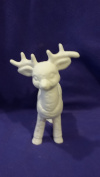 Standing softy reindeer facing forward