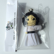 Princess Leia with Pistol Voodoo String Doll Keychain Keyring.