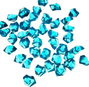 0.5kg of Turquoise Acrylic Ice Rock Vase Gems or Table Scatters
