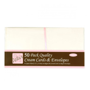 docrafts Anita's Square Cards/Envelopes, 13cm by 13cm , Cream, 50-Pack