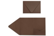 A7 Pocket Invitations (5 x 7) - Chocolate Brown