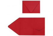 A7 Pocket Invitations (5 x 7) - Ruby Red