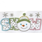 Rhinestone Transfer Hot Fix T-shirt Clothing Crafts Cushion Story Fashion Snowman Design 1 Sheets 7.8* 9.1cm