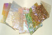 0.5kg Dichromagic Jeweller's Scrap Dichroic Glass Coe90 Fusible Clear DC108