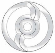 Stained Glass Supplies - Yin Yang Bevel Circle Cluster Ec849