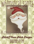 Whimsical Santa Cross Stitch Pattern - Cute Holiday Christmas Design
