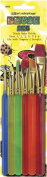 Art Advantage 6-Piece Triangle Handle Brush Set