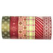 Allydrew Washi Tapes Decorative Masking Tapes, Set of 6, AD48