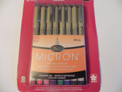 Sakura 30065 6-Piece Pigma Micron Assorted Colours 05 Ink Pen Set