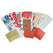 DCWV CP-003-00166 Holiday Card and Embellishment Kit