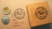 P62 Santa Claus Postmark rubber stamp HO HO HO