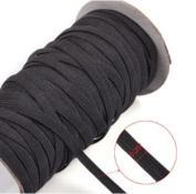 Top Hunter Black 70-Yards Length 0.6cm Width Braided Elastic Cord/Elastic Band/Elastic Rope/Bungee/Black Heavy Stretch Knit Elastic Spool