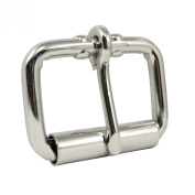 Springfield Leather Company Nickel Plate 3.8cm Roller Buckle