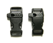 50cm - 1.6cm & 1.3cm Whistle Buckles (10 Each) For Paracord Bracelets