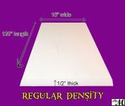 1.3cm x 41cm x 3m Regular Density Urethane Upholstery Foam