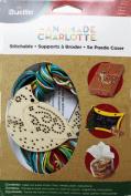 Bucilla 86501 Wood Stitchable Shapes Kit, 7.6cm by 7.6cm , Cardinal