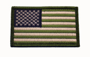 American Flag Patch, OD Green