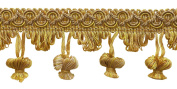 5 Yard Value Pack Antique gold 5.1cm Imperial II Onion Tassel Fringe Style# NT2503 Colour
