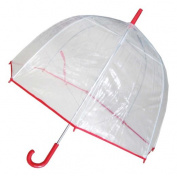 Conch Umbrellas 1265Red Bubble Clear Umbrella Dome Shape Clear Umbrella