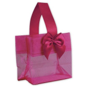Deluxe Small Business Sales B788-09 3.25 x 8.3cm x 5.1cm . Satin Bow Mini Totes Pink