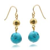 C Jewellery Turquoise Rock Dangling Earrings