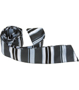 Matching Tie Guy 2760 K4 HT - 110cm . Child Matching Hair Tie - Black With Stripes