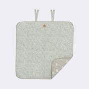 Ferm Living KIDS 8117 Mint Dot Changing Blanket - 80 x 80 cm.