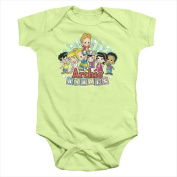 Archie Babies-The Gang - Infant Snapsuit Soft Green - Extra Large 24 Mos