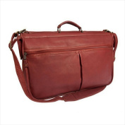 Canyon Outback Leather D360-20 Laurel Canyon Leather Compact Garment Bag Brick Red