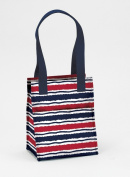 Joann Marrie Designs NLB2MS Large Lunch Bag - Marina Stripe Pack of 2