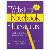 Merriam-Webster MERFSP0573 3-Hole Punch Paperback Thesaurus Dictionary Printed Book - English