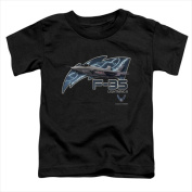 Air Force-F35 - Short Sleeve Toddler Tee Black - Large 4T
