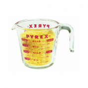 Pyrex Glass Measuring Cup 2 Cup ( 470ml ) Glass Red