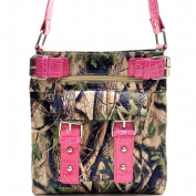 Ritz Enterprises MS100-PK/CAM Western Camouflage Crossbody Messenger Bag Purse - Pink & Camo