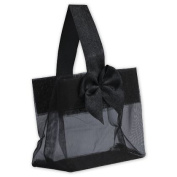 Deluxe Small Business Sales B788-39 3.25 x 8.3cm x 5.1cm . Satin Bow Mini Totes Black