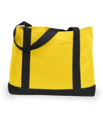 UltraClub 7002 Boat Tote - Yellow & Black One Size Fits Most