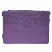 Christian Art Gifts 364165 Bible Cover-Fashion & Trust Large - Purple