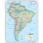 Universal Map 28425 South America Shaded Relief Map