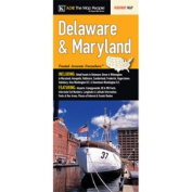 Universal Map 14480 Delaware And Maryland State Large Print Fold Map