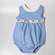 Little Ashkim BUBBSLBL36 Balloon Bodysuit - Light Blue 3-6 months