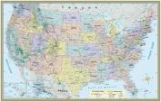 BarCharts 9781423220824 U.S. Map-Paper