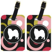 Carolines Treasures KJ1093BT Samoyed Luggage Tags - Pair Of 2