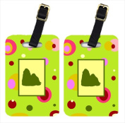Carolines Treasures CK1150BT Pair Of 2 Shih Tzu Luggage Tags