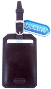 Leatherbay 13103 Leather Luggage Tag Burgundy