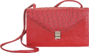 Aryana Rina6-Red Chic Red Ostrich Texture Structured Single Strap Womens Handbag