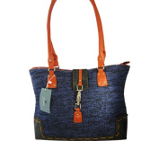 Aryana Ashlyn1blu Tote Bag With Top Zip Closure Shoulder Strap Blue