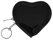 Catherine Lillywhite GC1268BK 8.9cm . BLACK HEART COIN PURSE