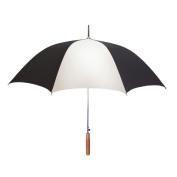 Peerless 2414IPR-Black-White Stick Umbrella Black And White