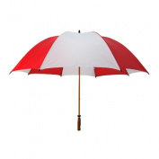 Peerless 2419WGF-Red-White The Mulligan Umbrella Red And White